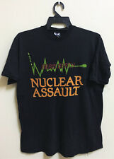 Vintage 80 Nuclear Assault Thrash Metal Tour Concert T-Shirt Anthrax Megadeth