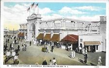 Casing Auditorium Boardwalk Wildwood by th Sea NJ postcard postally used in 1930