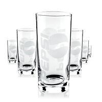 6 x Pepsi Glas Gläser 0,3l Softdrinkglas grosses Logo Gastro Bar Deko NEU