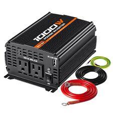POTEK Car Power Inverter 1000W DC12V to AC110V with 2AC Outlets 2A USB