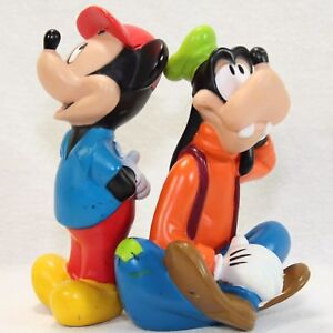MICKEY MOUSE GOOFY Vintage DISNEY Rubber SQUEAKY Bath Toys Lot of 2