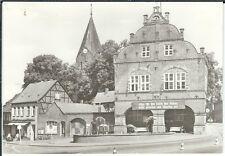 Ansichtskarte Gadebusch - Rathaus mit Spruchband - schwarz/weiß