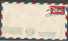 1947 COVER FANCY CANCEL NEWTON FALLS OH AIRPLANE THIS IS A PRE-DATE AS SEE INFO