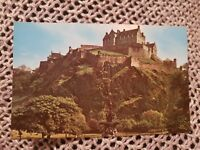 The Castle, Edinburgh - Vintage Postcard