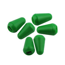 New 6pcs 5-Way Switch Tip Caps Knobs Green Plastic for Strat Guitar Switches