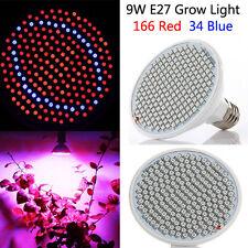 BG309 LED Grow Bulb Light Greenhouse Plant Seedling Lamp 9W 166 Red 34 Blue
