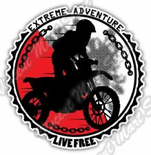 Extreme Adventure Live Free Dirt Bike Car Bumper Window Vinyl Sticker Decal 4.6""
