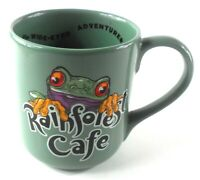 Cha Cha Frog Rainforest Cafe Green Oversized 16 oz Coffee Cup Practical Joker