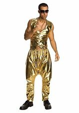 80s Rapper MC Hammer Vanilla Ice Gold Pants Costume - Fast - 80's parachute pant