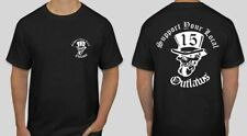 2 sided Support your local Outlaws Biker Motorcycle MC 15 t shirt outlaw skull