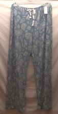 Women's 2X Bobbie Brooks Blue Paisley PJ Lounge Pants Handkerchief Bandanna NWT