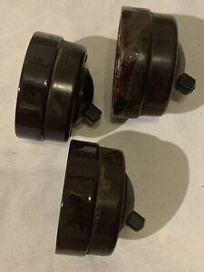 Vintage CRABTREE  Bakelite/Porcelain Light  Switch X 3 Toggle
