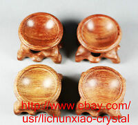 4PCS 30mm INNER diameter Rosewood Stand for Sphere&Egg