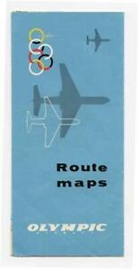 Olympic Airways Route Maps 1960