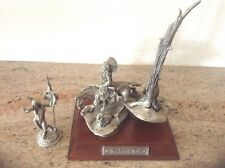 Vintage! 1987 Polland The Silent Trail AND I Come in Peace Fine Pewter  Chilmark