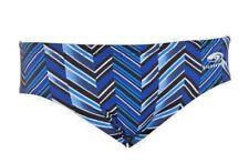 Blueseventy Chevron Brief Swimming/Triathlon Training Men Blue Stripes Size 32