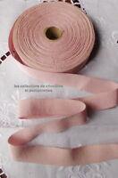 RUBAN GROS GRAIN DE COTON ROSE EDELWEISS 2.5 CM VENDU PAR MULTIPLES DE 2 M*