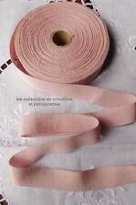 RUBAN GROS GRAIN DE COTON ROSE EDELWEISS 2.5 CM VENDU PAR MULTIPLES DE 2 M