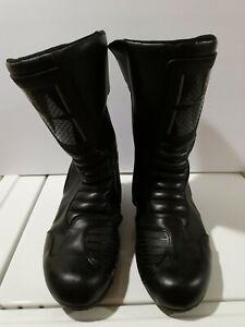Men's Alpinestars EN13634 Black Motorcycle Boots - Size 12