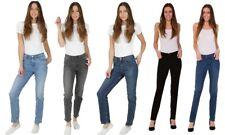 Ex M&S Collection Denim Jeans Women Straight Leg Stretch Size 6-32 Trouser Pants