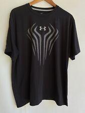 Under Armour Heat Gear Men's Black Football T Shirt Size L Large