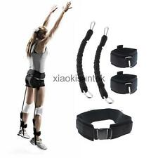 70LB Black Resistance Bands Jump Trainer Speed Agility Training Equipment