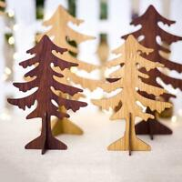 Wooden Mini Christmas Tree Desktop Stand Ornaments DIY Xmas Decoration Gifts