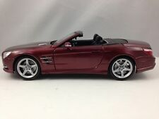 Maisto Special Edition Mercedes Benz SL500 Convertible Burgundy Red Diecast 1/18