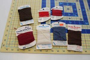 7 spools lot Candle Wicking Wick Yarn Cross Stitch Original CSO cotton 3 ply