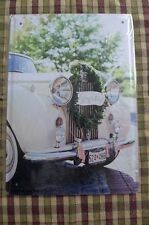 Wedding Day Old Car Tin Metal Sign Painted Poster Club Book Wall Art Office Shop