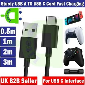 0.5m to 3m Long USB Charging Charger Cable Lead For PS5 XBOX Series X Controller