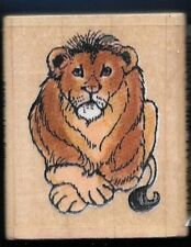 LION King of Jungle WILDLIFE Animal THAT'S ALL SHE STAMPED '92 RUBBER STAMP