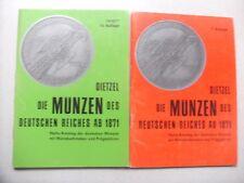 Konvolut, Lot von 4 Münzkatalogen , Dietzel,Deutschland ab 1871 s.Scan