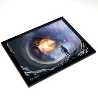 Glass Placemat 20x25 cm - Astronaut Space Alien Fantasy Art  #14060