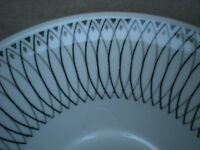 """J & G Meakin SCRAFFITO  5 3/4"""" Saucer  Black and White Ironstone England"""
