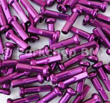 Bicycle 7075 alloy spoke nipples 14G (gauge) 2.0mm 16mm long 75 count PURPLE