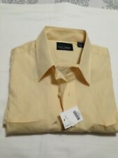 GREG NORMAN   LARGE YELLOW MEN'S SHIRT   NEW WITH TAGS