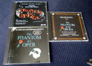 3 CDs Das Phantom Der Oper Of The Opera 1xdeutsch & 2xenglisch Wien London BEST