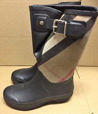 Ultra Rare Limited Edition Burberry Birkback Mid Rubber Rain Boots EU39 US9 NWB
