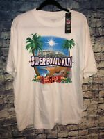 Reebok NFL Apparel Superbowl XLIV South Florida 2010 White T-shirt Men's Size L