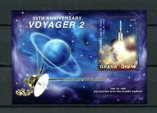 Ghana 2016 MNH NASA Voyager 2 Space Probe 30th Anniv 1v S/S Stamps