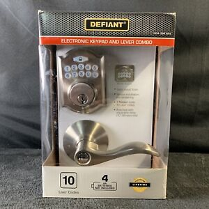 Defiant Electronic Keypad and Lever Combo Lock Touchpad Set MODEL 1004 396 895