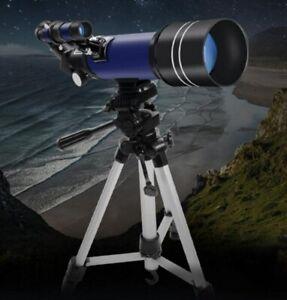 20x-201x 70mm Astronomical Refractive Telescope Telescop 400mm Focal Starfinder;