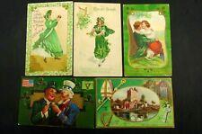 St.Patrick's Day Postcards 5 1900's Antique Postcards Ross Castle Killarney