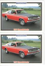1971 Plymouth Duster 340 Baseball Card Sized Cards - lot of 2 - Must See !!