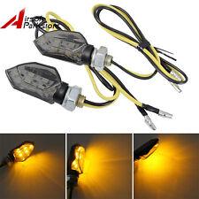 2x Mini Motorcycle Smoked Blinker 5 SMD LED Turn Signal Amber Indicators Lights