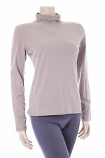 Ladies Brown -pebble Buddha Jumper Size S Womens Turtleneck Top Stretch Jersey