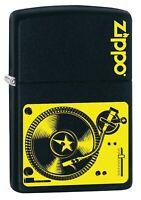 Zippo Lighter: Music Turntable - Black Matte 78753