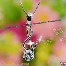 MOTHERS DAY DEALS Silver Treble Clef Music Note Necklace Gifts For Her Mum Women