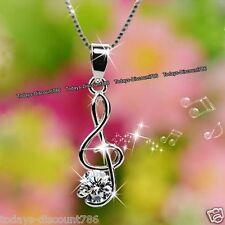 Día de las madres Treble Clef Nota Musical ofertas de Plata Collar de mujer regalos para su madre